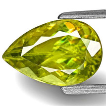 INDIA Sphene 2.26 Cts Natural Untreated Yellowish Green Pear - $622.00