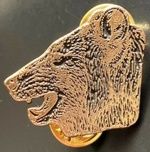 Vintage Empire Pewter Bear Head Pin - Free Combined S/H - $7.25
