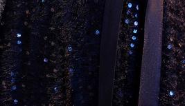 Women Half Sleeve Velvet Maxi Dress High Waist Formal Dress, Black, Plus Size image 6