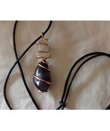 Gemstone Wire Wrapped Handcrafted Necklace Custom Made to Order Adjustab... - $15.99