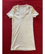 BASIC TEE j crew perfect fit white 100% cotton tea size S - $12.86