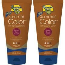 2 Pack Banana Boat Summer Color Self-Tanning Lotion, Deep Dark Color 6oz... - $29.95