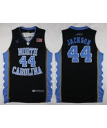 NEW North Carolina #44 Justin Jackson Black Basketball Stitched NCAA Jer... - $26.66