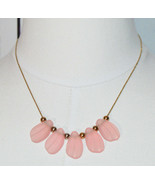 AVON Pink Acrylic Shell Beads Gold Tone Choker Necklace Vintage - $13.86