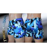 Thunderbox Nylon Spandex Mens Blue Camouflage Titan Pouch Shorts S, M, L... - $25.00