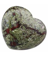 TUMBEELLUWA Healing Stones Carved Heart Puff Love Crystal Chakra Worry R... - $11.14
