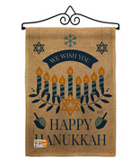 Wish You Happy Hanukkah Burlap - Impressions Decorative Metal Wall Hange... - $33.97