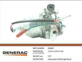 Generac Guardian 0D8807 OEM RV Generator Carburetor-Single Barrel Carburetor - $199.99