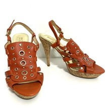Michael Kors Womens Shoes Size 6 Heels 4 Inch Leather Straps Excellent Condition - $37.39