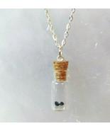 Necklace Gemstone in Bottle Sapphire 2 Stones Birthstone Wish Bottle Gif... - $29.99