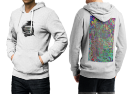 Spaceman  White Cotton Hoodie For Men - $39.99