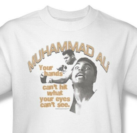 Muhammad Ali T-shirt Cant Hit boxing distressed print graphic cotton tee Ali135