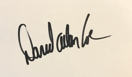 David Allan Coe Autographed Signed 3x5 Index Card Outlaw Country Music w/COA - $119.99