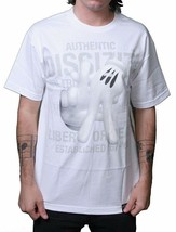 Dissizit! Los Angeles LA Hands Sign Signal 3D Vinyl Graphic Print White T-Shirt