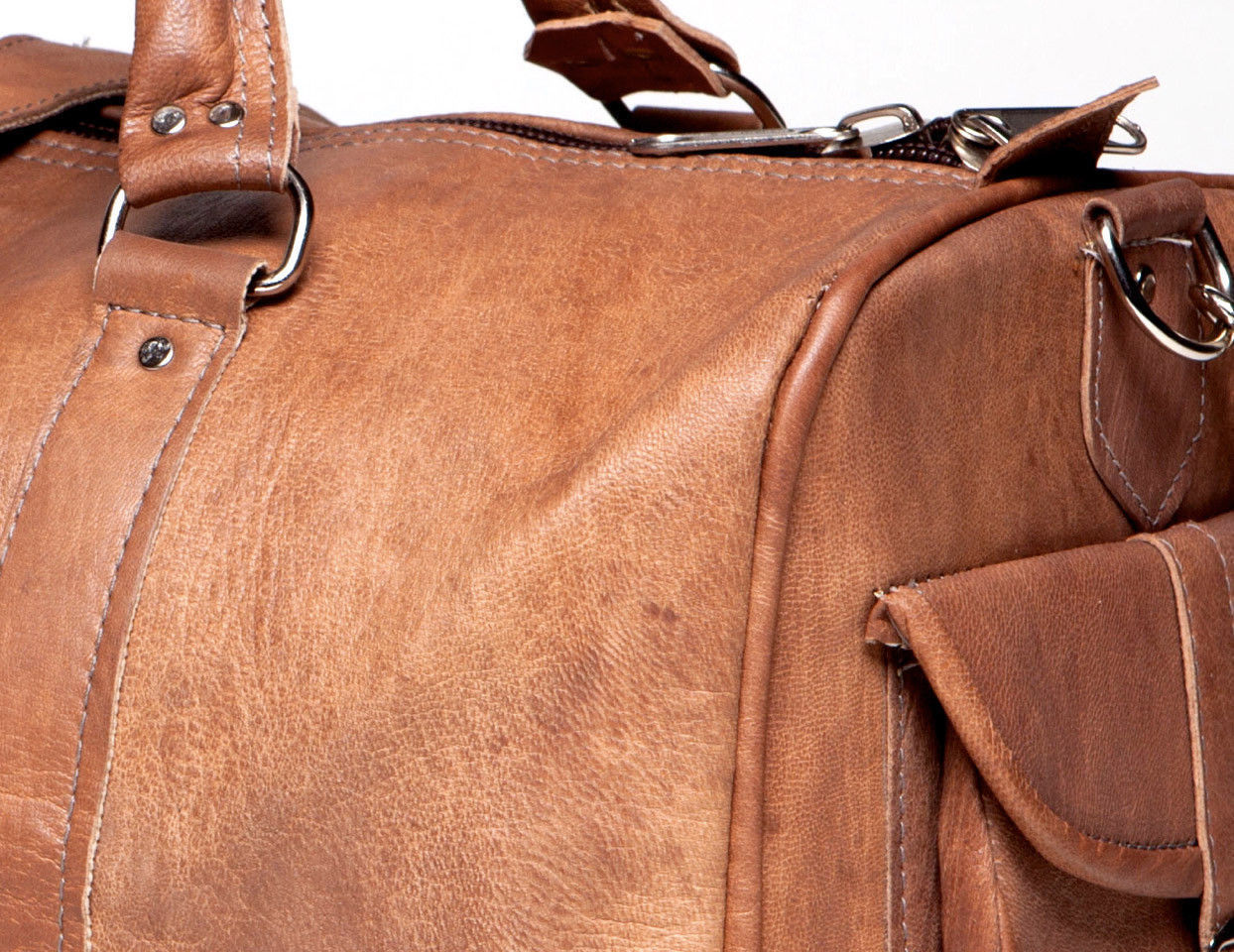 New Men 100/ Rustic Soft Vintage Leather Travel Duffel Weekend Luggage Gym Bag
