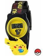 Pokemon Pokemon Kids' POK3085 Digital Display Quartz Black Watch - $8.73