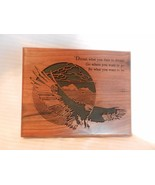 Dream What You Dare To Dream Dark Brown Wooden Engraved Sign With Flying... - $29.70