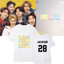 KPOP GOT7 T-Shirt Eyes On You Tshirt JACKSON Letter Tee Casual Cotton Tops - $9.86