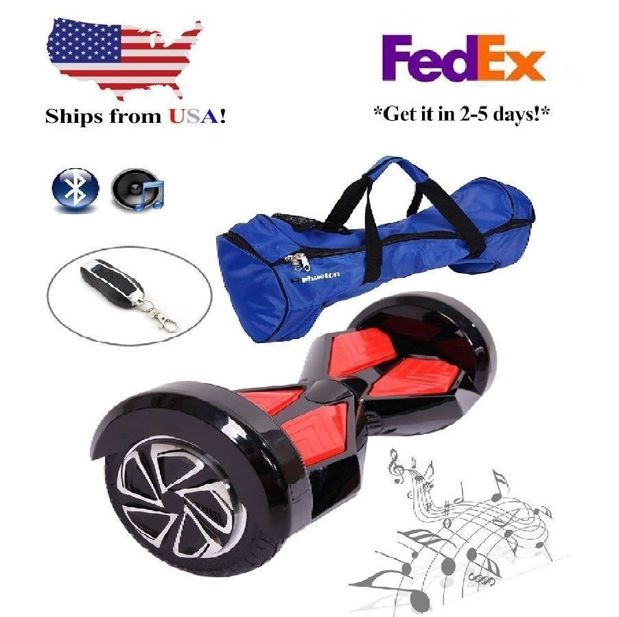 """Black Lambo 8"""" Bluetooth Hoverboard Two Wheel Balance Scooter UL2272"""