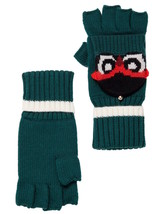 Kate Spade New York Gloves Who Me Owl Pop Top Knit Mittens NEW - $67.32