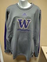 Adidas Washington Huskies Crew Sweatshirt Mens Medium Gray GL5547 - $28.50