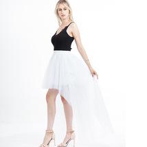 Black Slit Tulle OVERSKIRT Elastic Waist hilo Tulle Skirt Open Skirt Over Skirt image 8