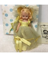 Nancy Ann Storybook Doll Daffy Down Dilly 171 Yellow Dress Paperwork Arm... - $34.65