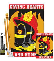 Saving Hearts and Homes - Applique Decorative Flags Kit FK108065-P2 - $109.97