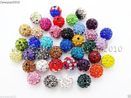 20Pcs Quality Czech Crystal Rhinestones Pave Clay Round Disco Ball Space... - $1.67