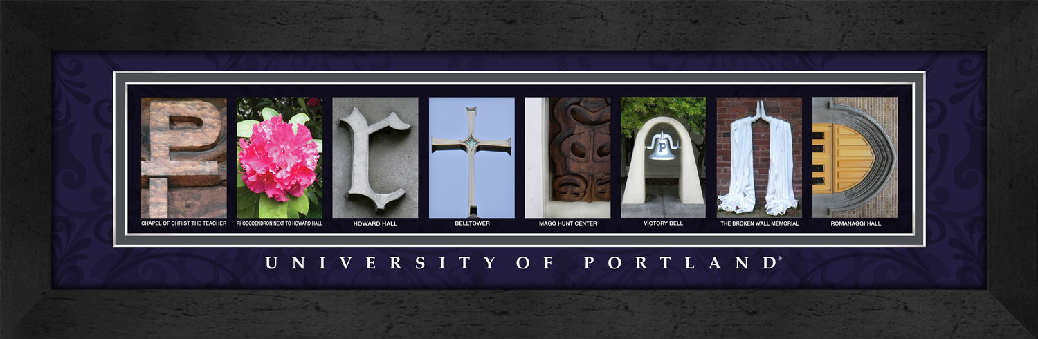 Primary image for University of Portland Officially Licensed Framed Campus Letter Art