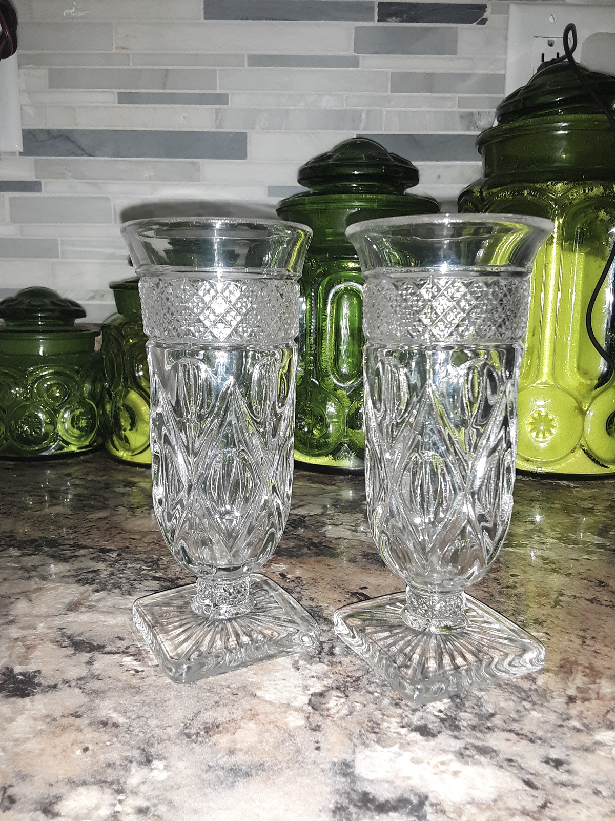 Primary image for VTG Anchor Hocking Wexford Water/Wine Goblets