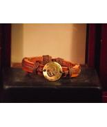 Vintage Style Adjustable Pisces Leather Bracelet - $6.93