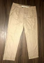 Lauren By Ralph Lauren Gray Cuffed Pleated Dress Pants Size 38 X 32 Mens - $19.80