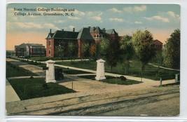 University North Carolina Buildings College Avenue Greensboro 1910c post... - $7.38