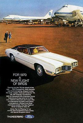 Primary image for 1970 Ford Thunderbird - Promotional Advertising Poster