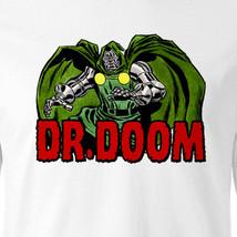 Dr. Doom long sleeve T-shirt Free Shipping vintage comic superhero retro tee image 1
