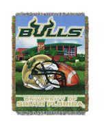 USF South Florida Bulls Home Field Advantage Woven Tapestry Throw Blanket - $31.95