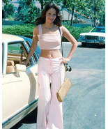 JACLYN SMITH CHARLIE'S ANGELS 8X10 PHOTO CANDID BY CAR 1970'S FASHION - $9.75