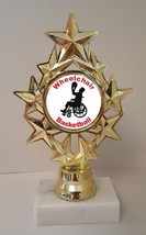 "Wheelchair Basketball Trophy 7"" Tall Low As $3.99 Each Free Shipping T04N9 - $7.99+"