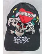 Ed Hardy by Christian Audigier,Love Kills Slowly Cap, Adjustable Black/R... - $19.99