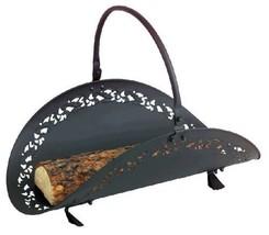 Black Filigree Body Wood Basket - 21 inch - $56.55