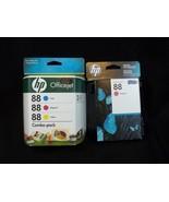HP Ink Cartridge 88 Combo Pack Exp 1/2011 Black Exp 12/2016 - $24.74