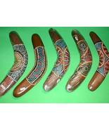 "Boomerang Aboriginal Motif Made in Bali 16"" Long  Handmade Large Decor - $22.28"