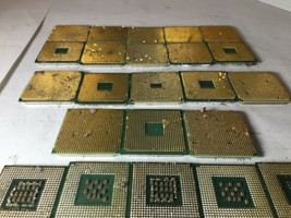 2.5 Lbs Intel Pentium AMD Mix Lot CPU with pins for Gold Scrap Recovery - $48.51
