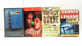 Lot of 4 Books on Cassette Audio Stories Romance/Thrillers by Lehane and... - $18.90