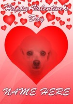 Poodle Dog Valentine's Day Personalised Greeting Card cHM122 Husband Wife - $3.82