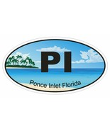 Ponce Inlet Florida Oval Bumper Sticker or Helmet Sticker D1267 Euro Oval - $1.39 - $75.00