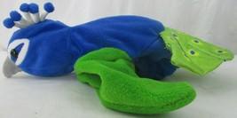 "Caltoy Blue Green Peacock Big Hand Puppet Plush Big Eyes VGUC 10"" - $8.90"