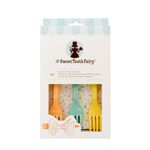 Sweet Tooth Fairy Napkin & Fork Bow Kit Assorted Colors - $6.90