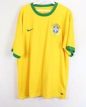 Nike Mens Large Brazil Brasil CBF Dri Fit Dri Fit Short Sleeve Soccer Je... - €30,75 EUR